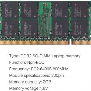 2 GB Memoria Ram Portatil DDR2